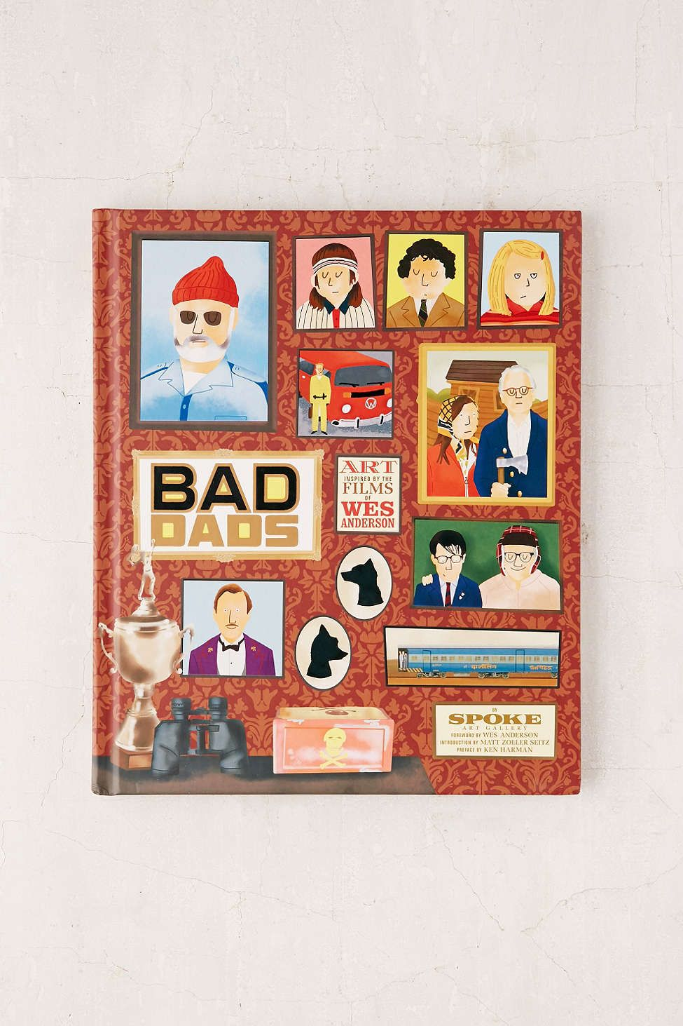Bad dads art inspired by the films of wes anderson by spoke art