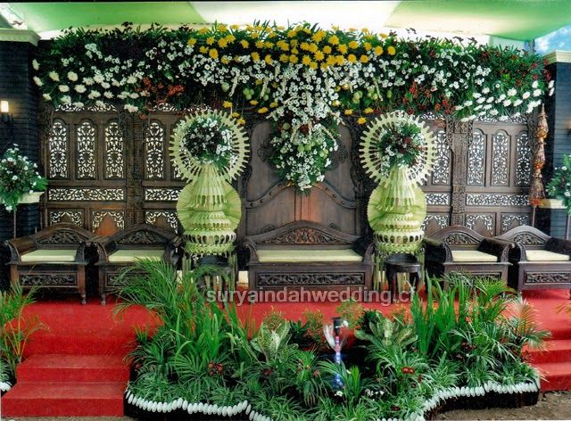 Contoh Dekorasi Gebyok Untuk Resepsi Pernikahan Rumahan Oleh