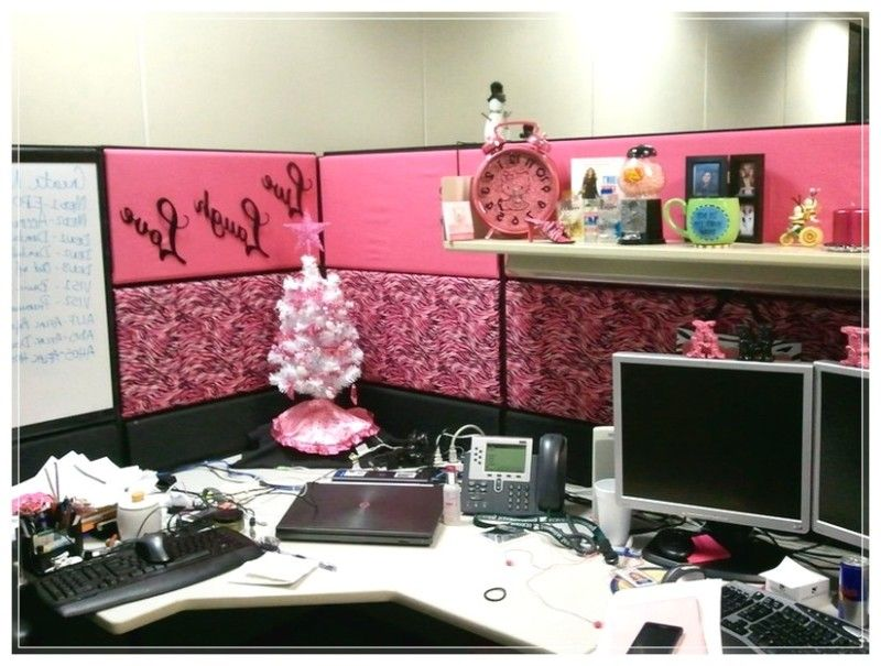 cubicle office decor pink. Simple Cubicle Decor With Design Ideas Pink Color Office S