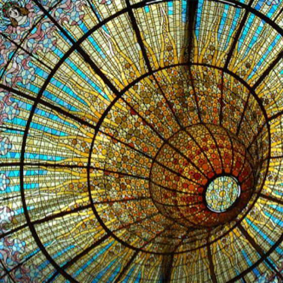 Catalan Modernisme: Stained Glass Ceiling at Palau de la Música