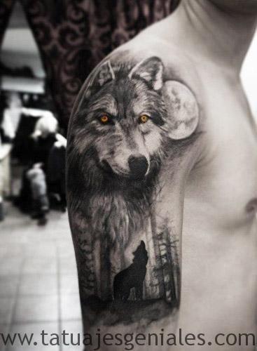 Tatuajes De Lobos Aullando 1 Genial Tatuaje Para El Brazo