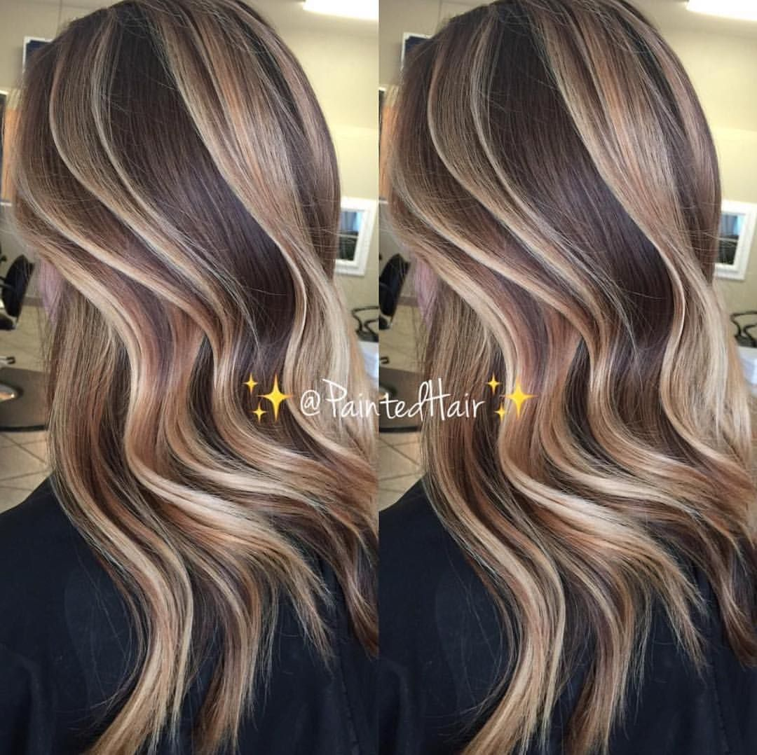 Spiced Vanilla Swirled Brunette Paintedhair What So You Think Of This Tones P S I Use My Iphone 6 Hair Styles Hair Highlights Spring Hair Color