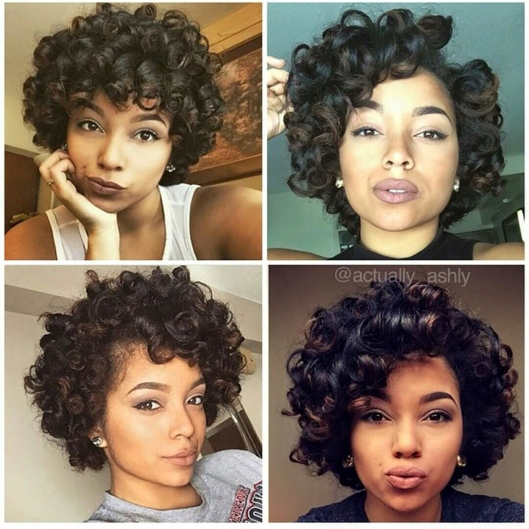 Short Hair Large Curls Natural Hair Styles Relaxed Hair Roller Set Hairstyles