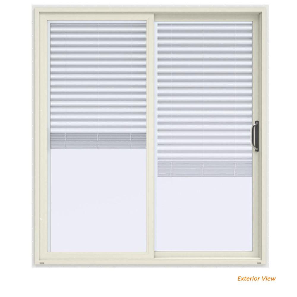 Etonnant V 4500 Contemporary Bronze FiniShield Vinyl Left Hand Full Lite Sliding  Patio Door W/ Internal Blinds THDJW155900540   The Home Depot