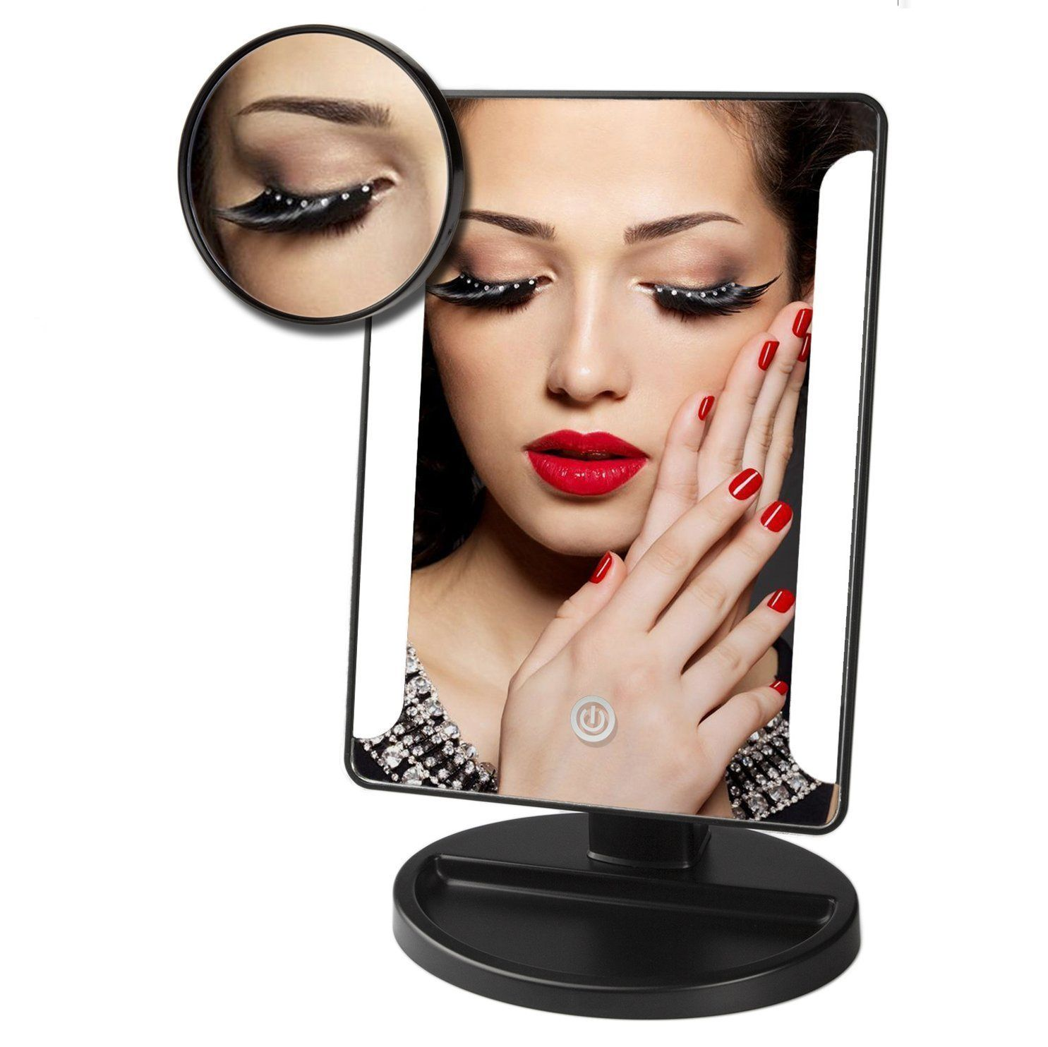 IEKA Tabletop LED Lighted Vanity Mirror / Natural Bright