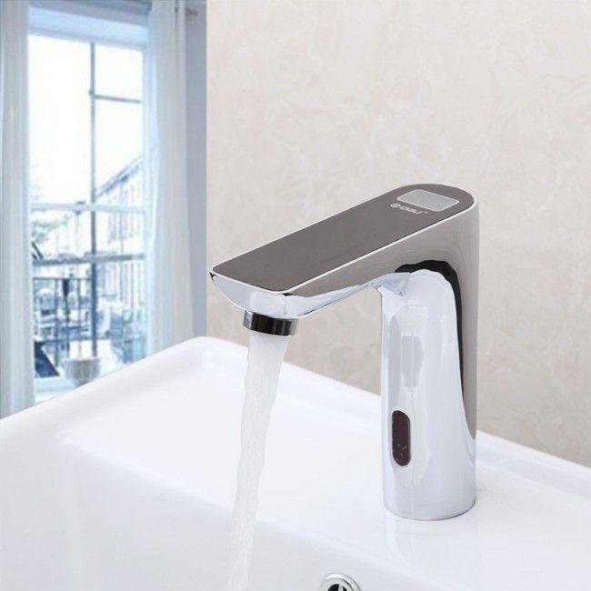 Black Digital Disply Electronic Automatic Motion Sensor Bathroom ...