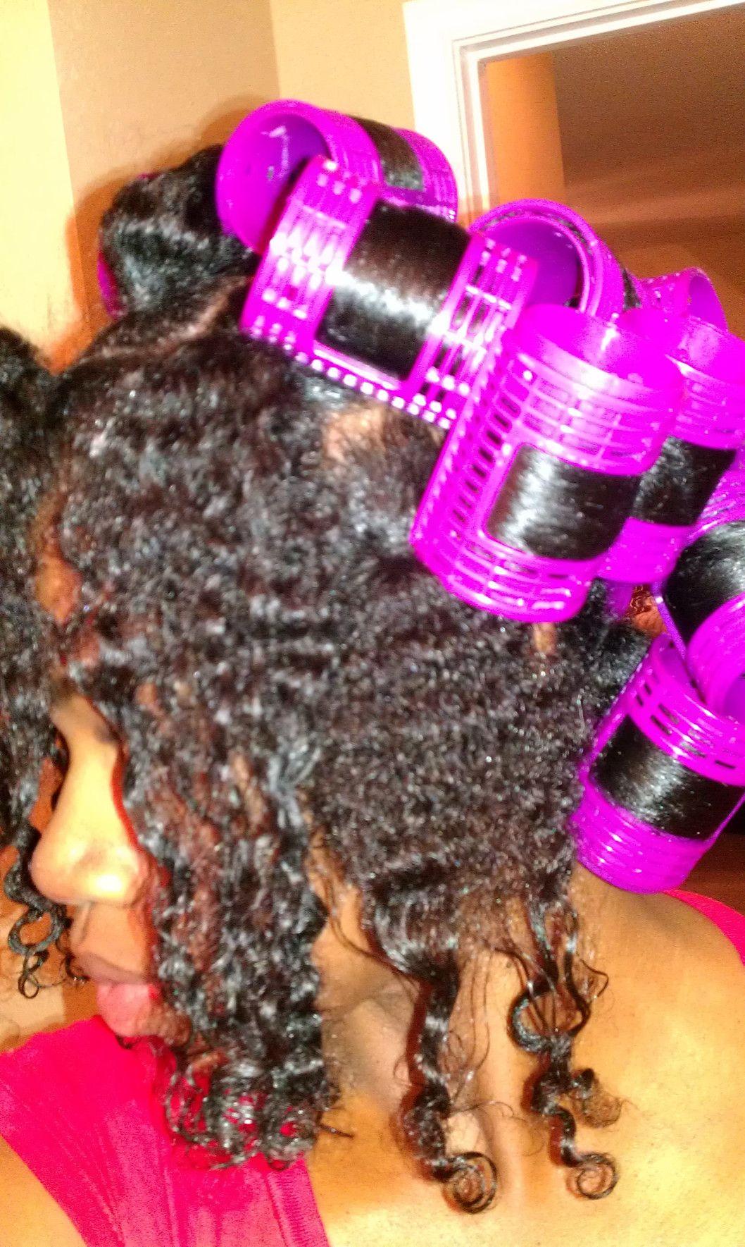 Quick u easy roller set using the ponytail method hair pinterest