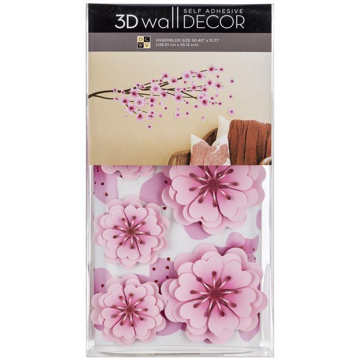 Cherry Blossom 3d Vinyl Wall Decor Cherry Blossom Decor Cherry Blossom Nursery Adhesive Wall Art