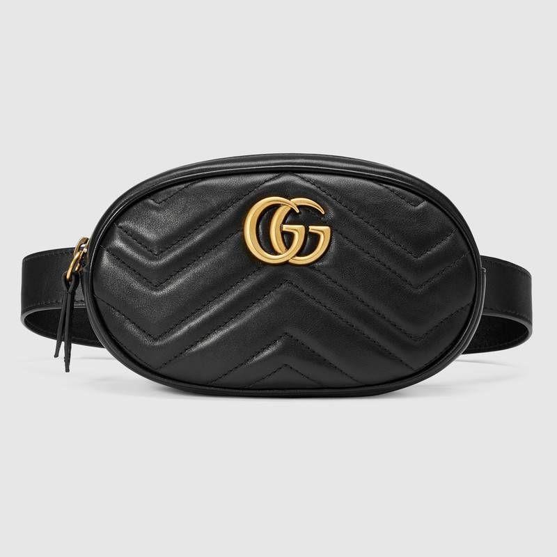 Bolsa con Cinturón GG Marmont de Piel Matelassé Bolsos Gucci 1ed5e45e334