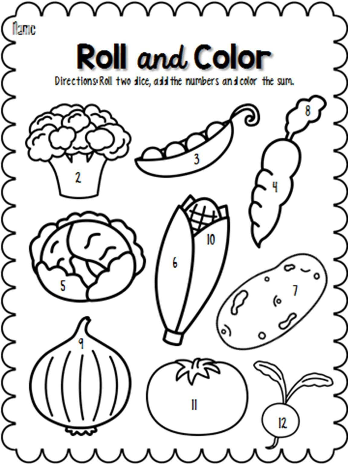 Roll And Color April Engage In Learning Color Number Recognition