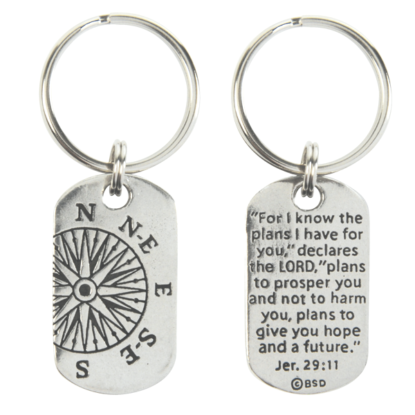 Be Still and Know that I am God Black Leather Keychain