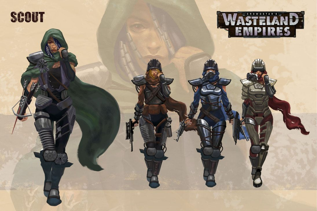 Wasteland Empires Scout 2 By Artoftu Post Apocalyptic Art Post