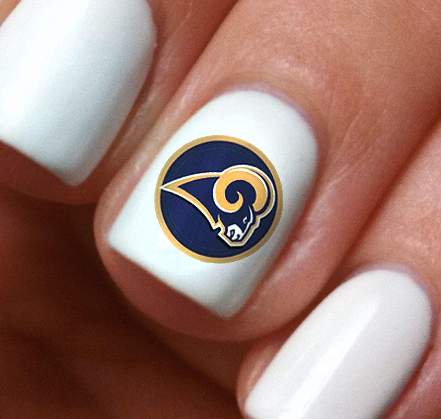 Los Angeles Rams Football Nail Art Decals Salon Quality Football Nail Art Football Nails Nail Art