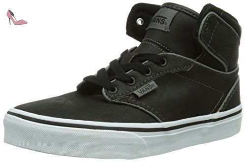 Vans Y Atwood Hi (Leather) Black, Baskets mode mixte enfant, Noir ...