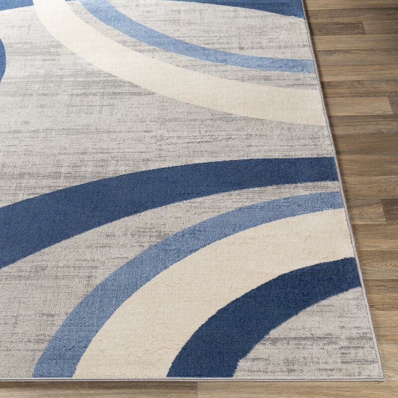 Glossop Distressed Modern Navy Blue Light Gray Area Rug Area Rugs Rugs Colorful Rugs