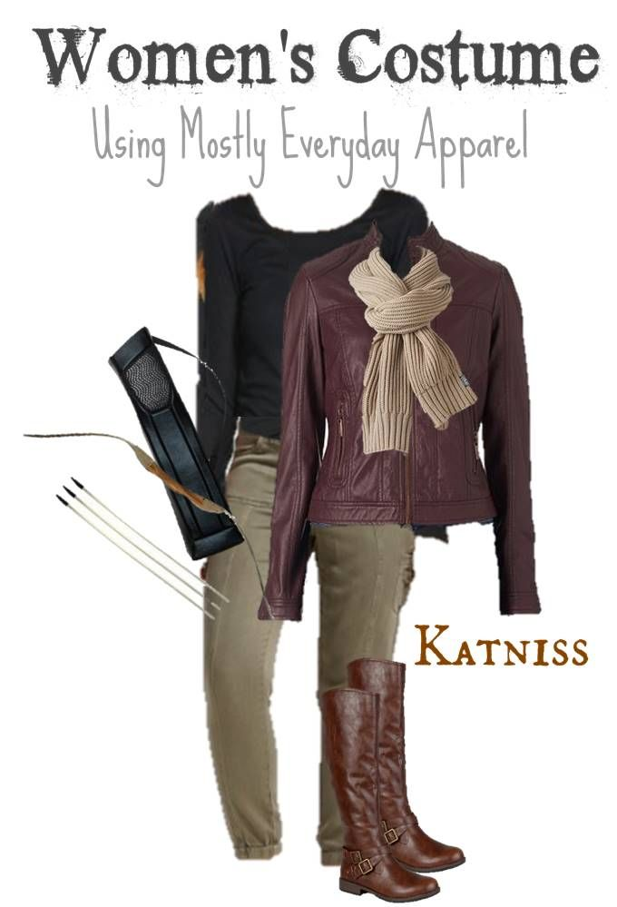 Diy katniss costume using clothes you can wear again katniss diy katniss costume using clothes you can wear again solutioingenieria Gallery