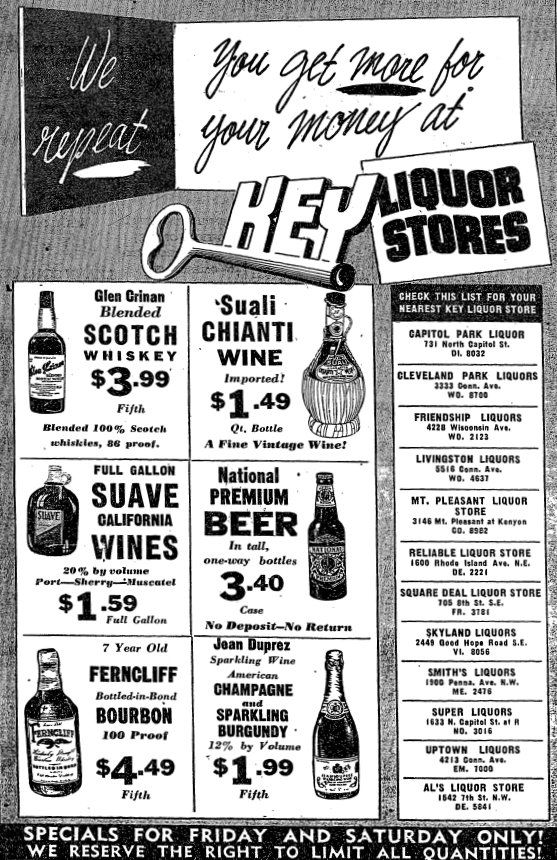 retro retail stores 1948 liquor ad booze and more liquor ads 1948