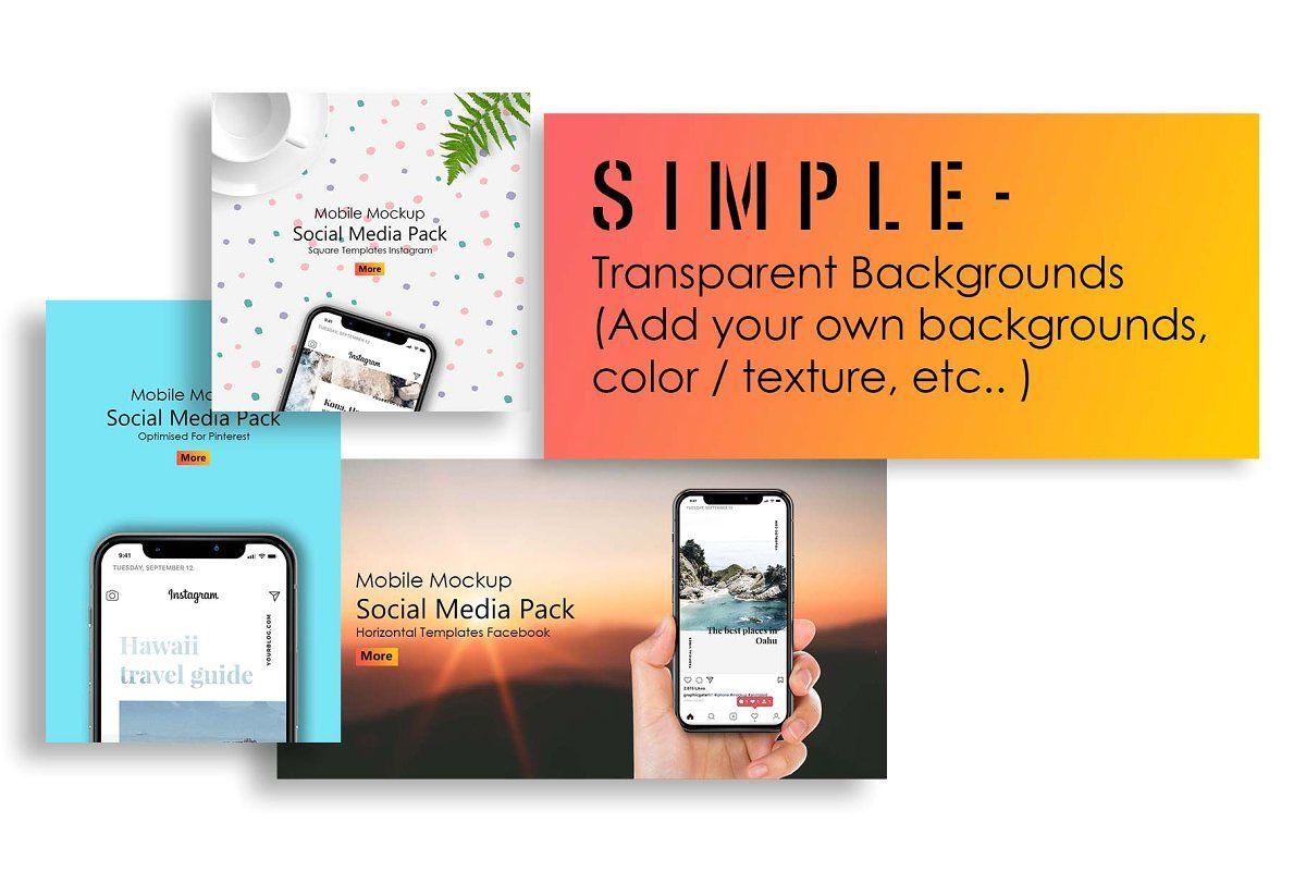 Iphone X Mockup Social Media Pack Social Media Pack Social Media Iphone Mockup