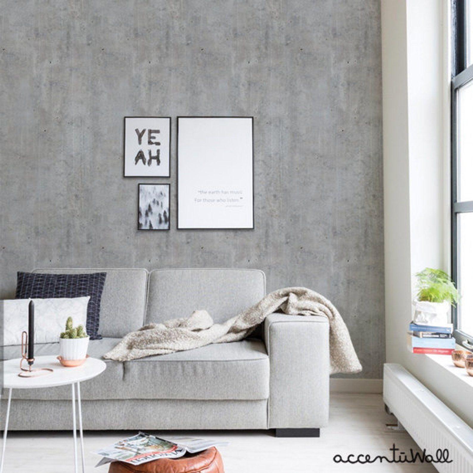 Cement Concrete Peel Stick Fabric Wallpaper Repositionable Etsy Concrete Wallpaper Fabric Wallpaper Wallpaper Panels