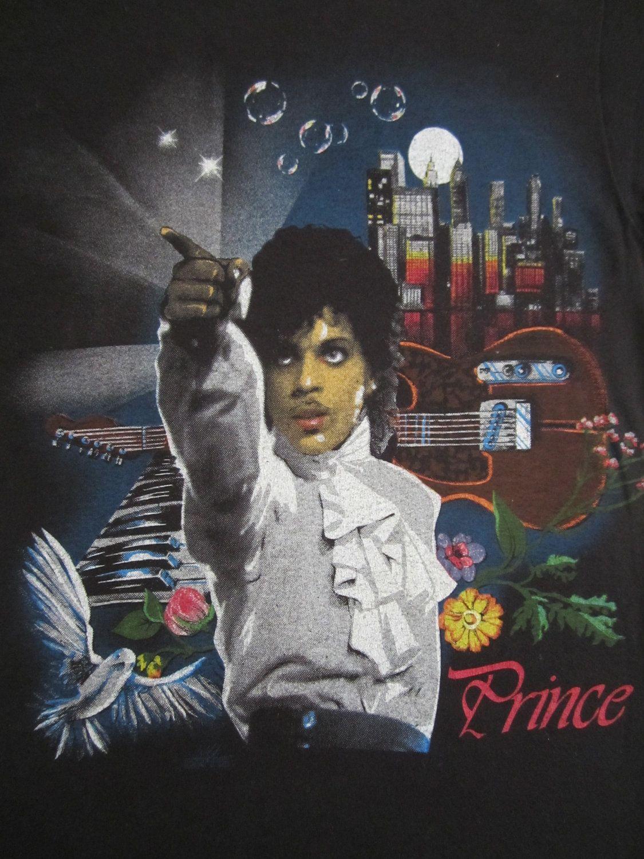 Original PRINCE vintage 80s tour TSHIRT by rainbowgasoline on Etsy, $150.00