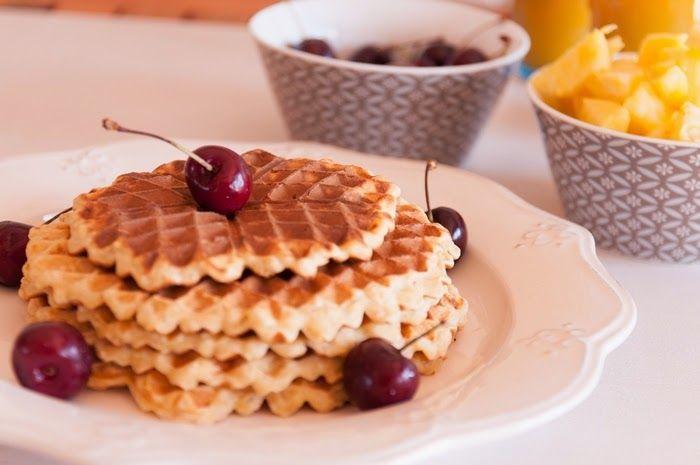 Cozinha Fresh: Waffles de aveia.... post rápido