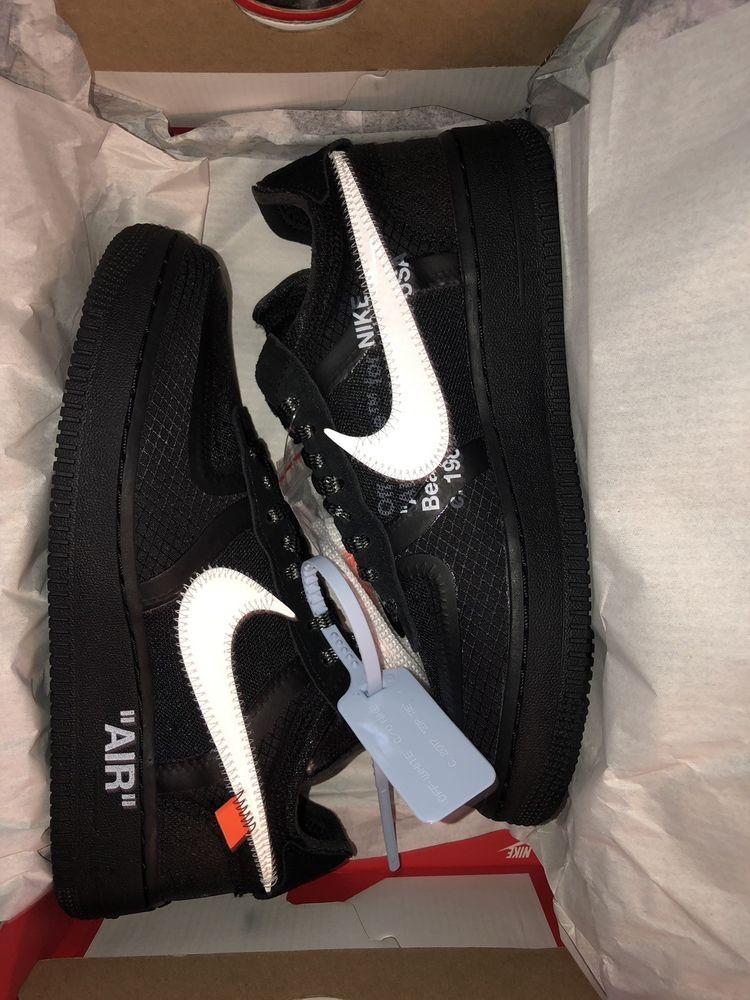 6169156f435b2 eBay  Sponsored Nike x Off White The Ten Air Force 1 Low Black White ...