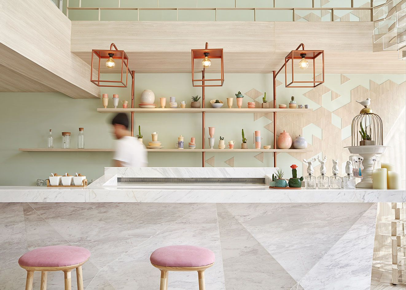 room for dessert shugaa is a bangkok pastry cafe with an eye on design - Marble Cafe Decoration