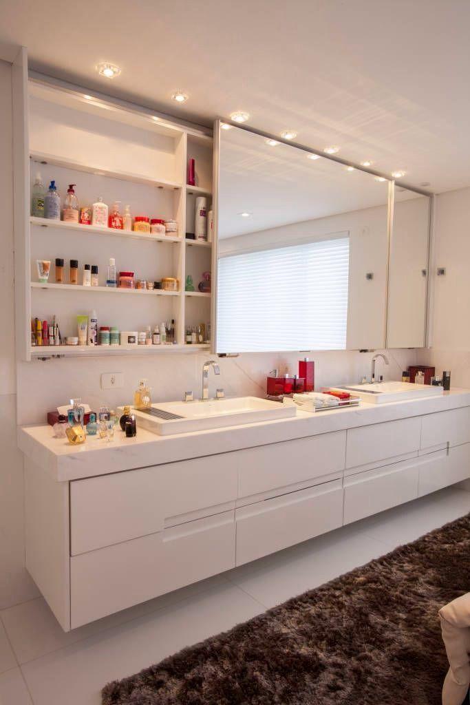 Wall Cabinet With Mirror Banheiros Modernos Ideias Para Casas