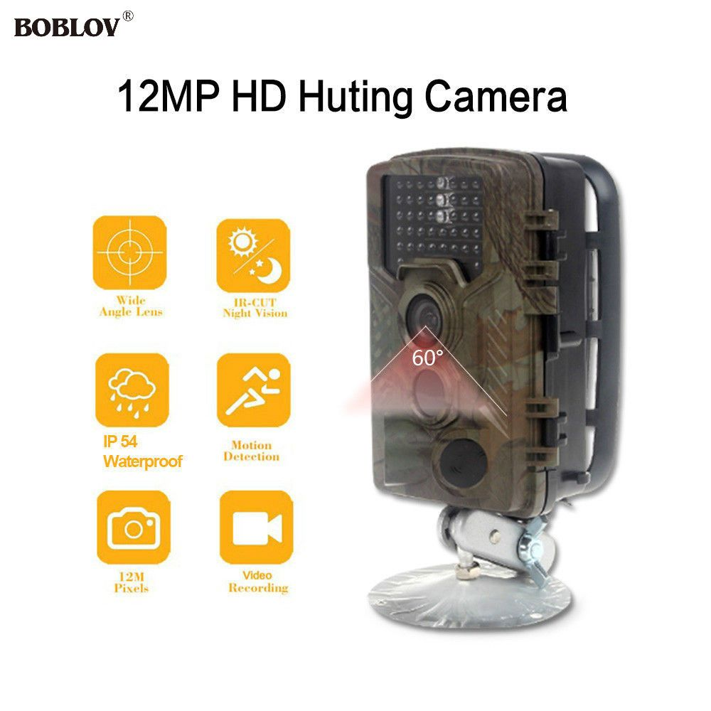 Boblov H801w 32gb 12mp 120degree 46pcs Infrared Night Vision Precise Denzel M Hitam 45 Gametrail Hunting Scouting Ghost Video Camera 6v Charger