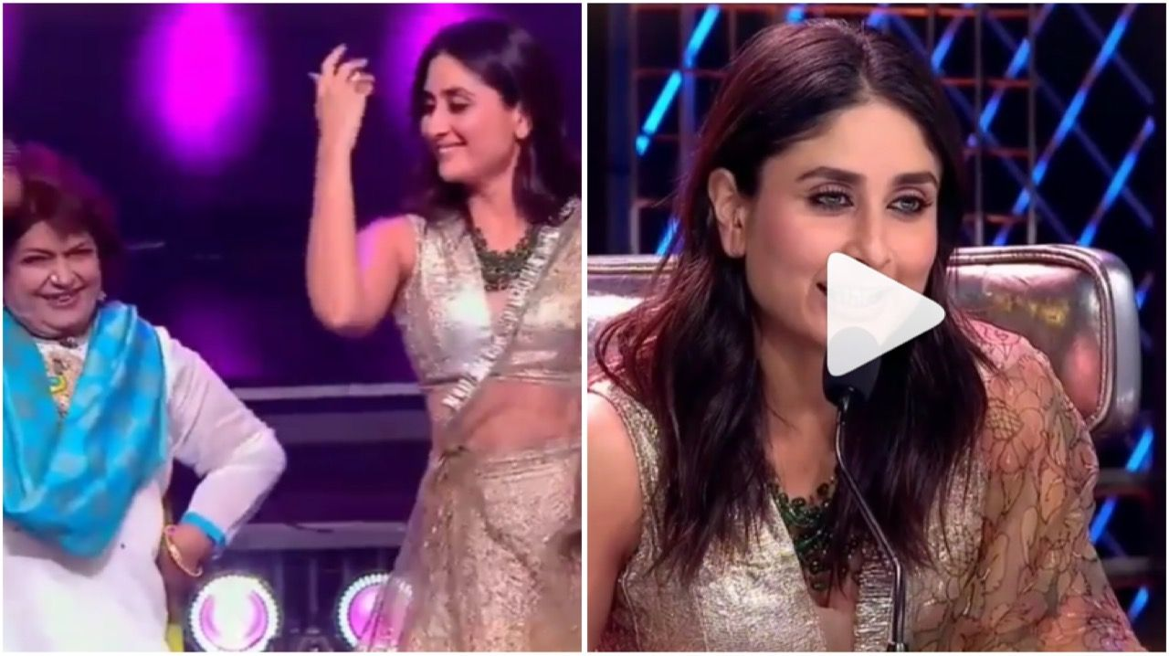 When Kareena Kapoor Khan Imitated The Ultimate Dancing Guru Saroj Khan And Left Everyone Into Splits Hungryboo In 2020 Kareena Kapoor Khan Celebrities Khan