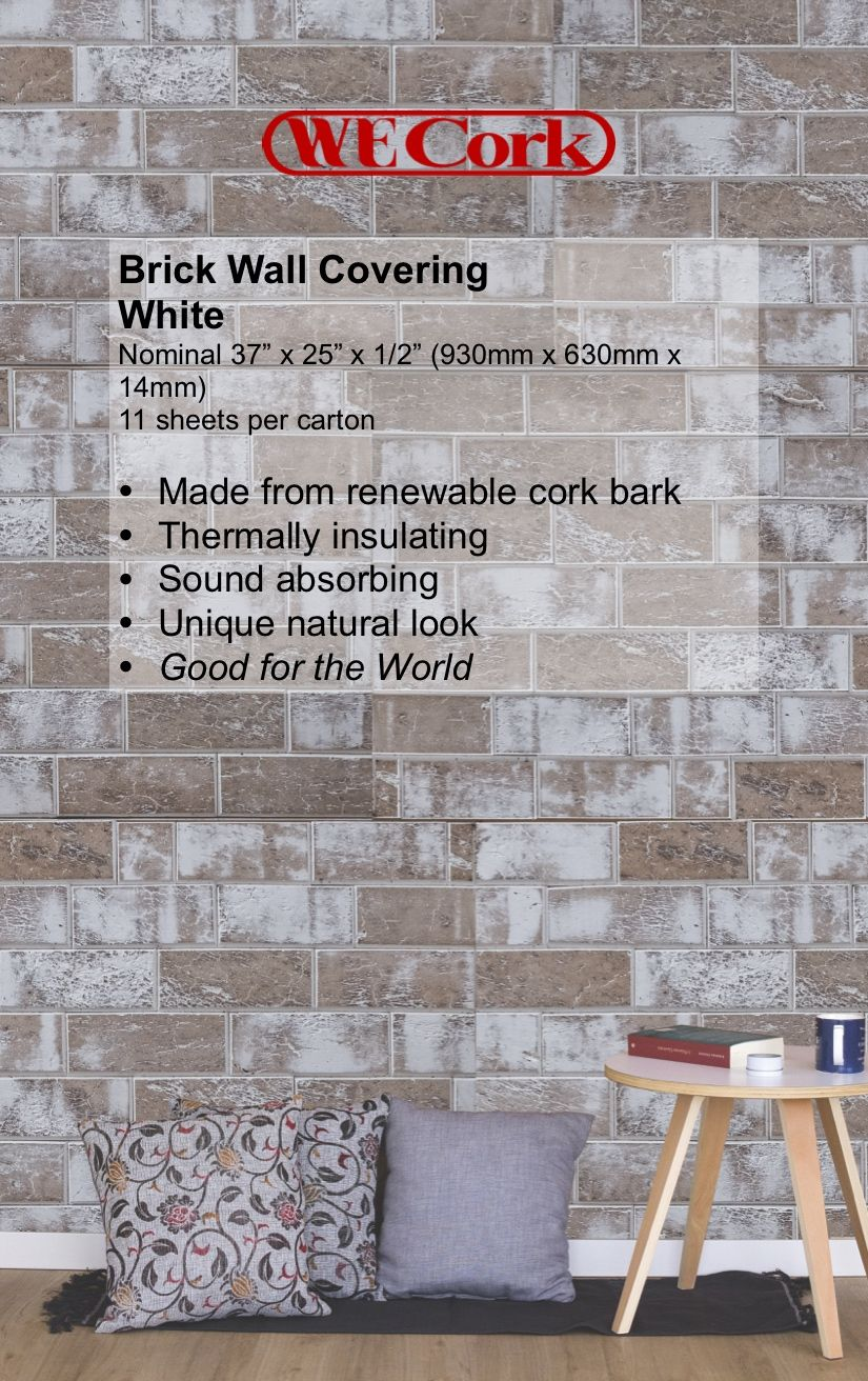 White Brick Wall Coverings Diy Fireplace Walls