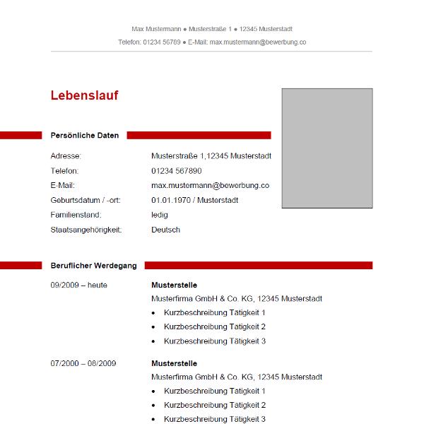 """Lebenslauf """"2015"""" - Moderne Lebenslauf-Vorlage Zum Kostenlosen"""
