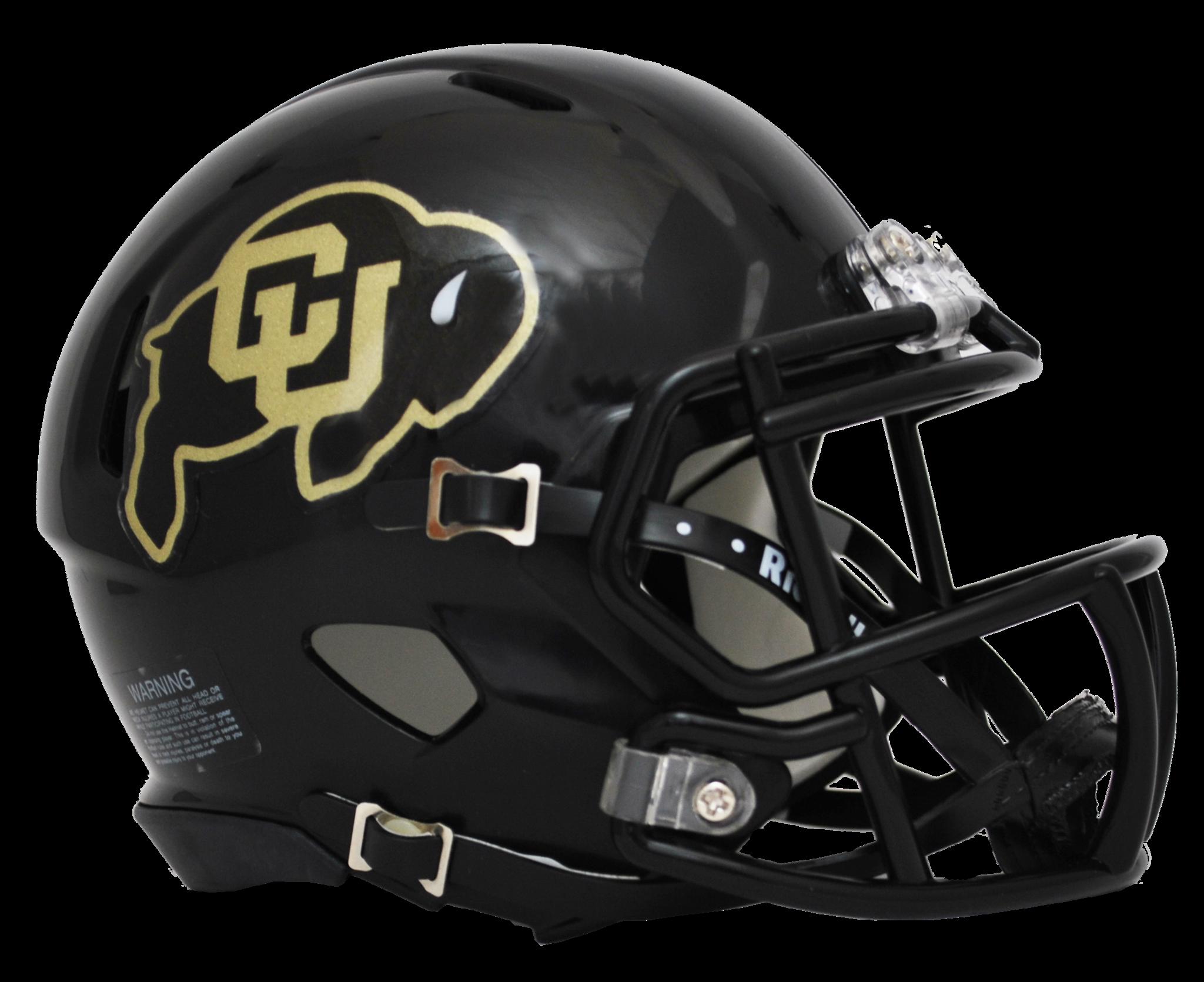Colorado Buffaloes Black Riddell Mini Speed Helmet By Riddell Game Day Treasures Football Helmets Cool Football Helmets Mini Football Helmet