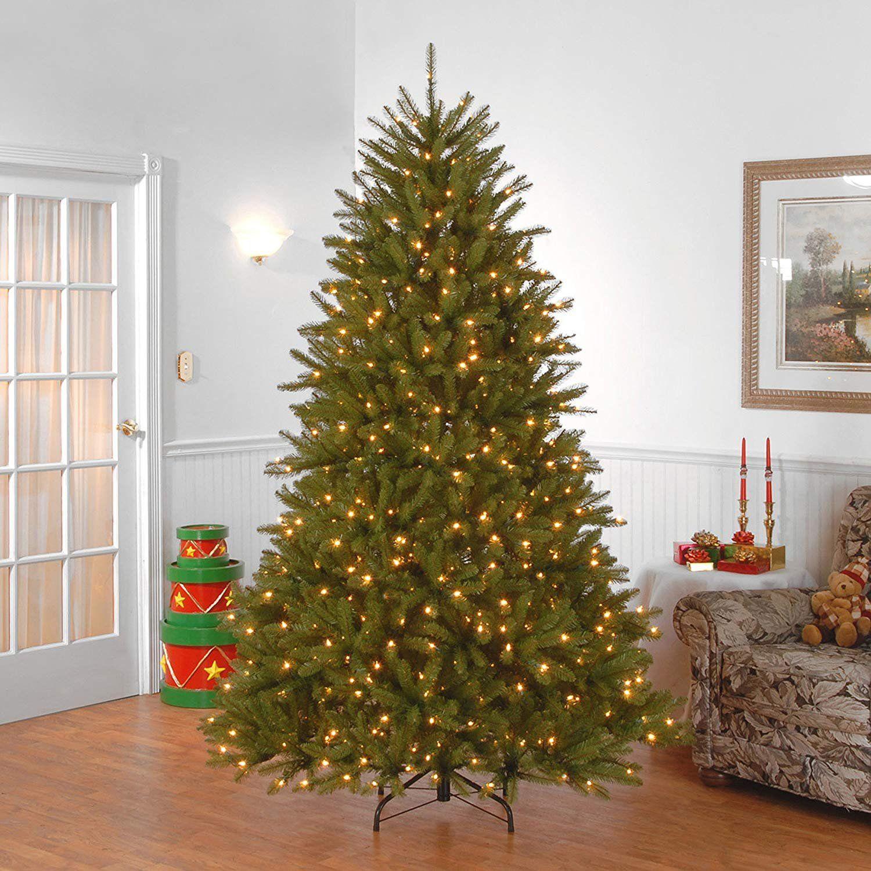 7.5' PreLit Dunhill Fir Artificial Christmas Tree Clear