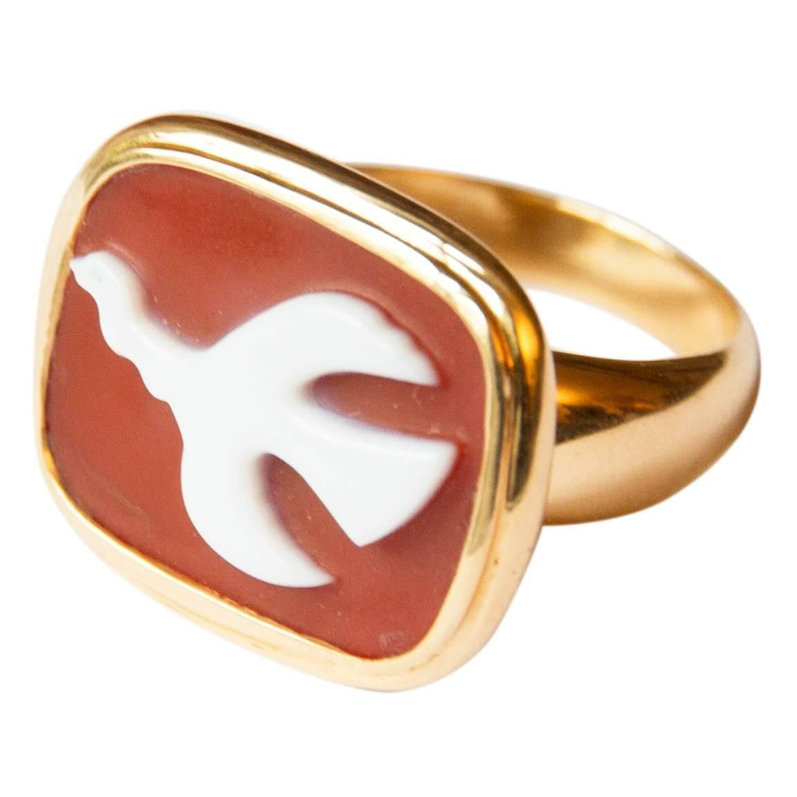 Wedding decorations gold and pink december 2018  Georges Braque Gold and Cornelian MOUNICHOS Cameo Ring  Cameo