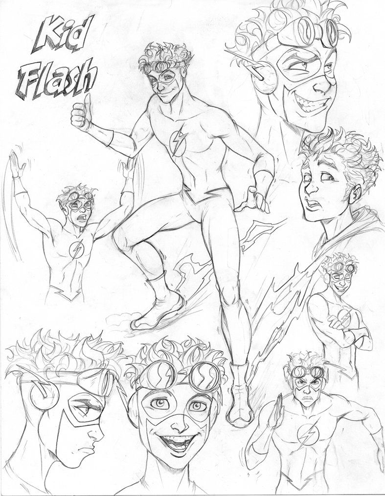 Young Justice CD Kid Flash by nathanscomicart