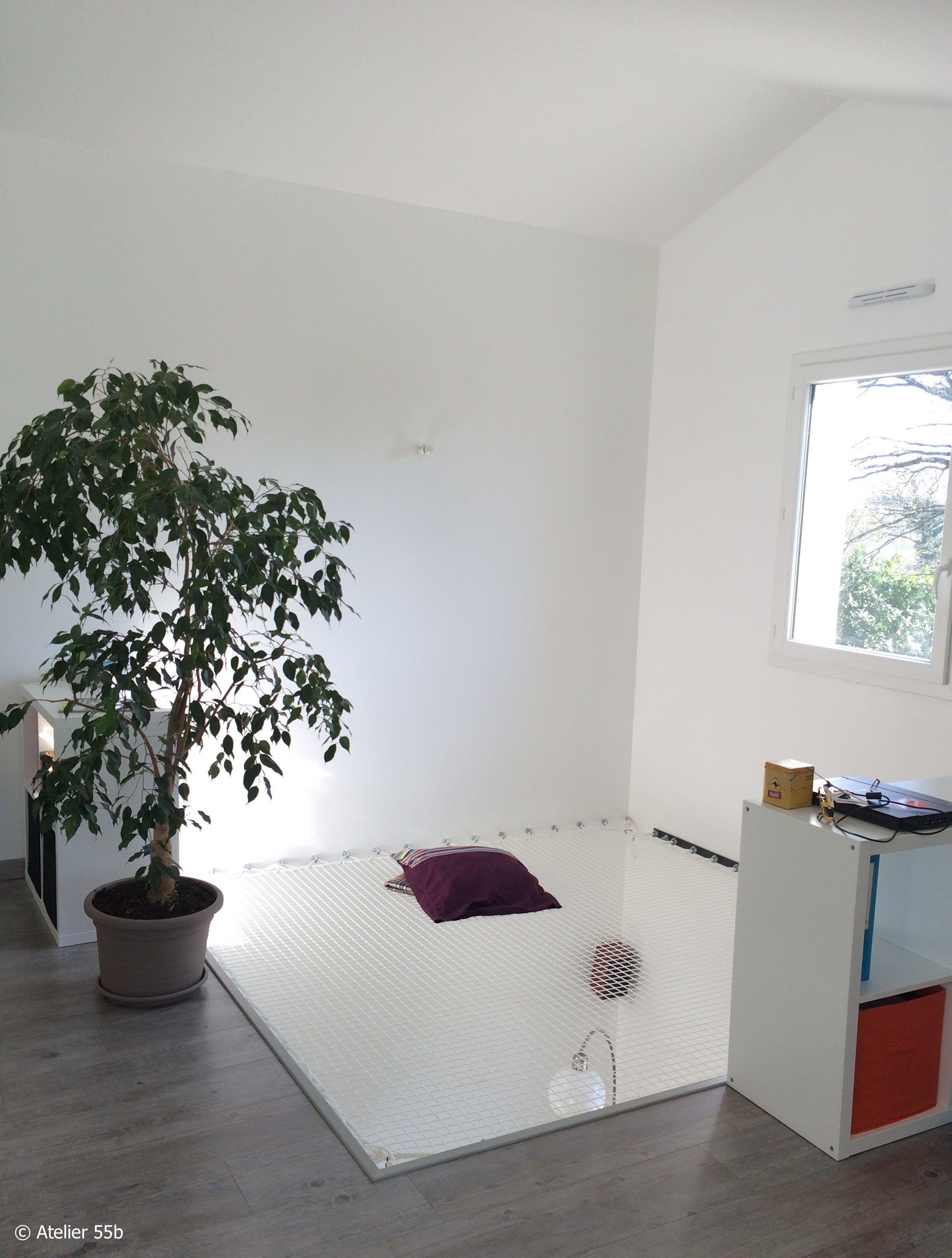 filet d 39 habitation vu depuis la mezzanine netz pinterest mezzanine. Black Bedroom Furniture Sets. Home Design Ideas