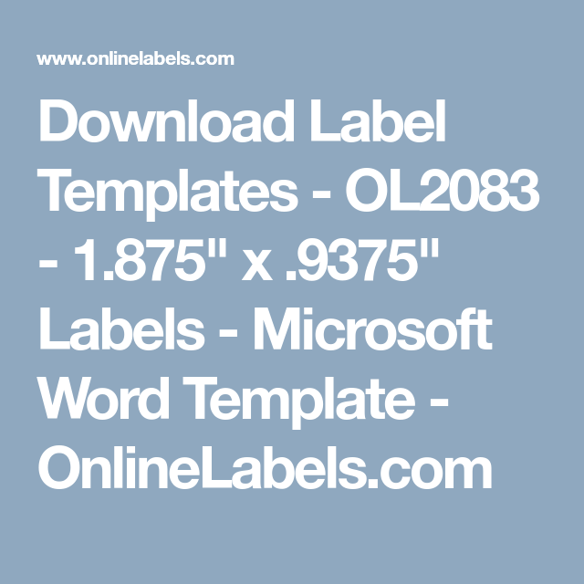 Download Wl 875 Word Template
