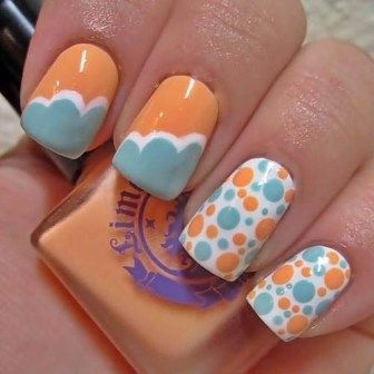 classy and cool shellac nail design