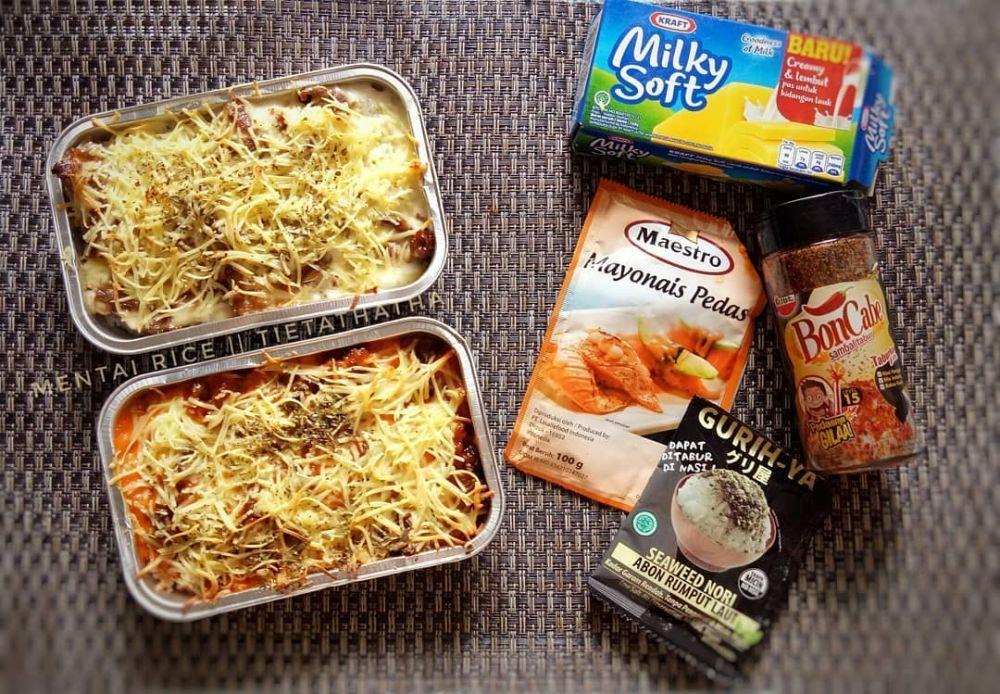 Resep Mentai Rice C 2020 Brilio Net Makanan Penutup Mini Makanan Saus Sambal