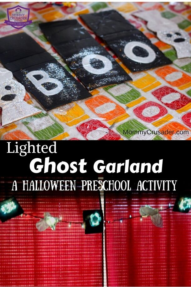 Lighted Ghost Garland \u2013 a Halloween Preschool Activity Mommy - preschool halloween decorations