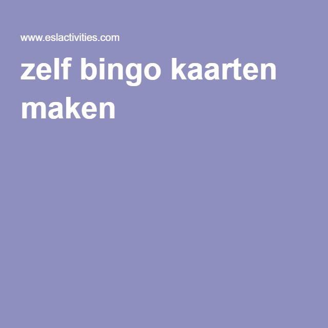 Voorkeur zelf bingo kaarten maken | kinderfeestje | Pinterest - Bingo &MF38