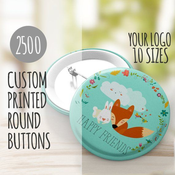 Custom Pins Buttons - Custom Buttons- 2500 Buttons with Your