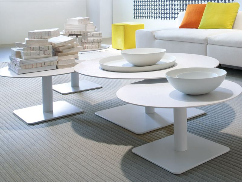 Height Adjustable Round Coffee Table Giro Collection By Paola