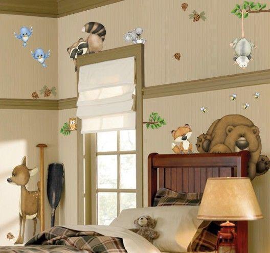 Best Details zu Wandtattoo Sticker FX Room Wald Tiere Waldtiere B r Reh Eule Fuchs