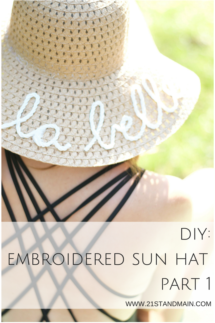 diy: embroidered sun hat part 1 | craft, diy things and diy clothing