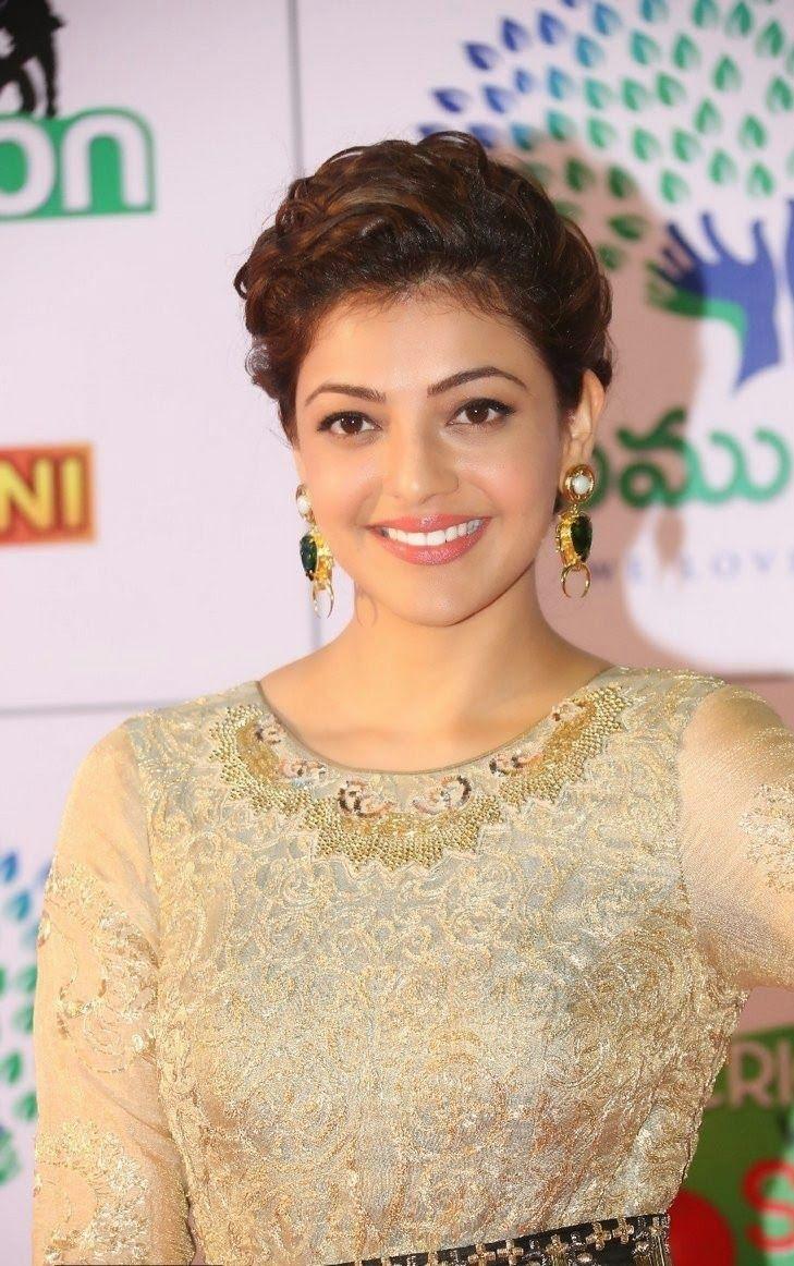 Glamorous Kajal Agarwal Cute Photos At Memu Saitam