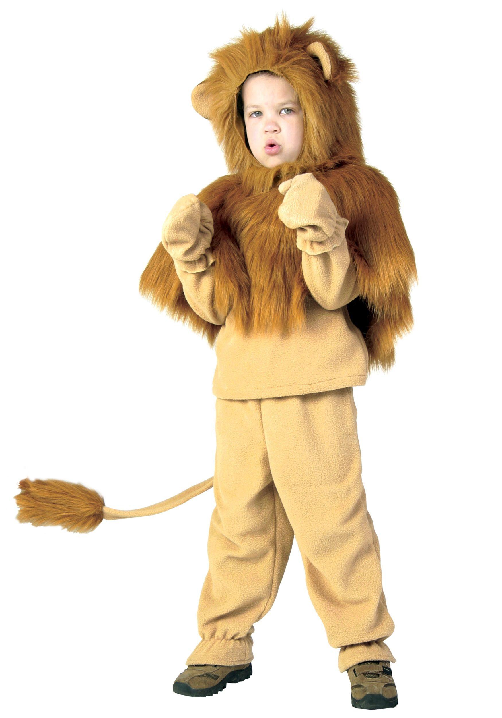 Cowardly Lion Costume Kids Wizard of Oz Halloween Fancy Dress