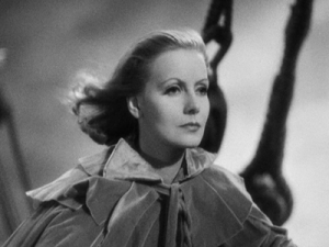 """Queen Christina (Greta Garbo) to Antonio (John Gilbert): """"A great love, perfect love, is an illusion. It is the golden fable of which we all dream. But in ordinary life, it doesn't happen. In ordinary life, one must be content with less."""" -- from Queen Christina (1933) directed by Rouben Mamoulian"""