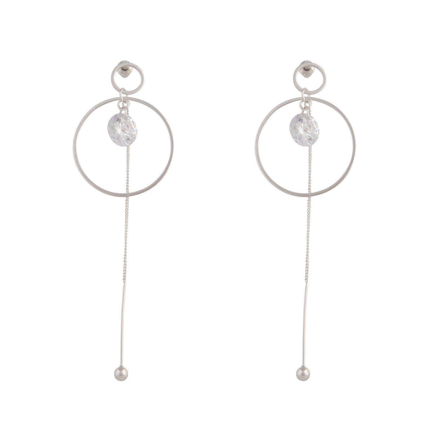 Stunning Solid 925 Sterling Silver Cubic Zirconia Infinity Earring Rose Gold